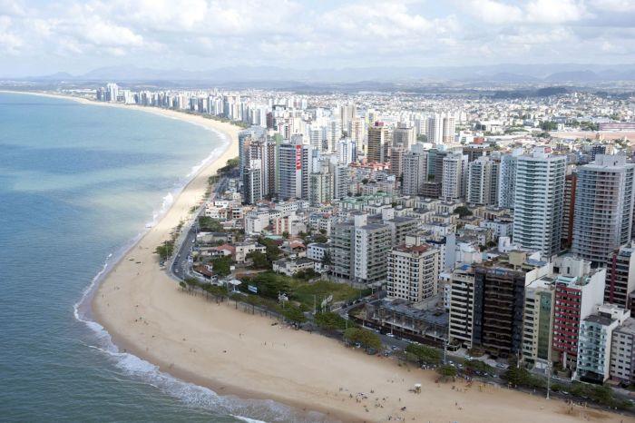 Foto aérea de Vila Velha, representando abrir empresa em Vila Velha