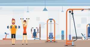 Ilustração de uma academia, representando como abrir uma academia - Abertura Simples