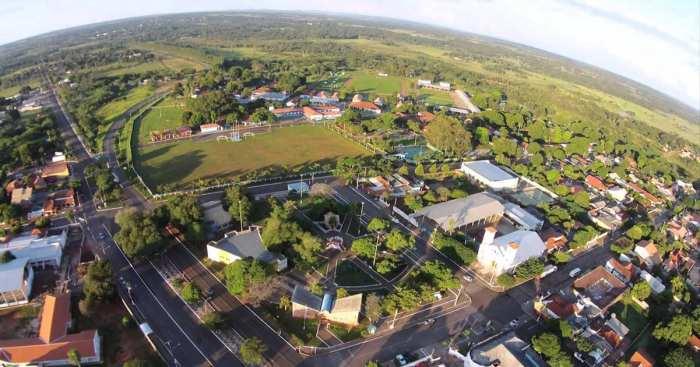 Foto da cidade vista de cima, representando o escritório de contabilidade em Jardim