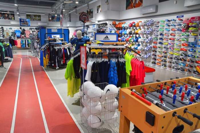 foto de uma loja de artigos esportivos