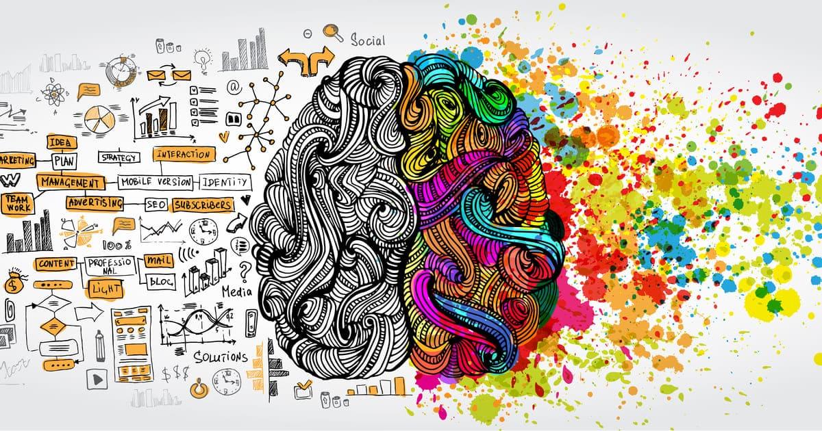 ilustração de um cérebro, representando o neuromarketing
