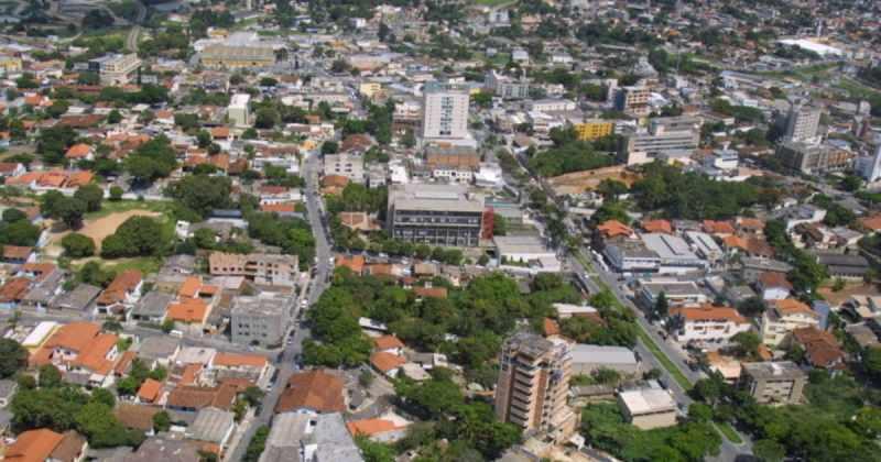 foto aérea da cidade, representando contabilidade em betim