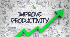 Imagem vetorizada que representa a produtividade no trabalho