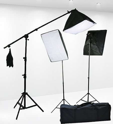 Fancierstudio Lighting Kit 2400 Watt Professional Video Lighting Kit & Top 10 Best Studio Light 2018 Reviews - A Best Pro