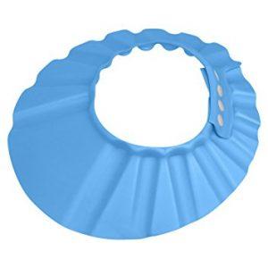 Evelots Shampoo Bath Cap Baby/Child-Safe Visor Protector-Adjustable-Blue or Pink
