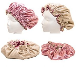 Newborn & Babies 15 Inches-ROSE Shower Cap and Hair Bonnet