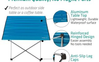 Top 5 Best Camping Table Walmart In 2019 Reviews A Best Pro