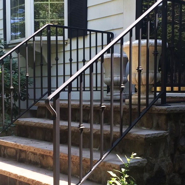 Handrail Installation Companies Custom Handrails Stairway Railings   Safety Rails For Steps   Step Handrail   Steel Stair   Exterior Handrail   Wall Mounted   Wrought Iron