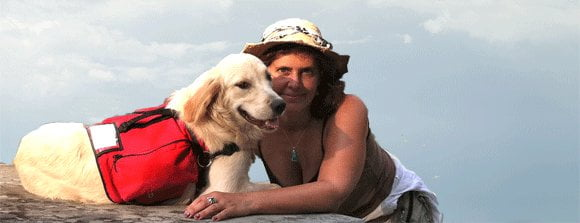 Rachel with service dog