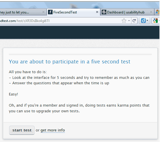 Test page for the FiveSecondTest.com test