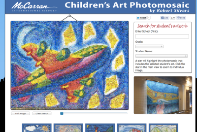 Children's Photo Mosaic at McCarran International Airport, Las Vegas NV