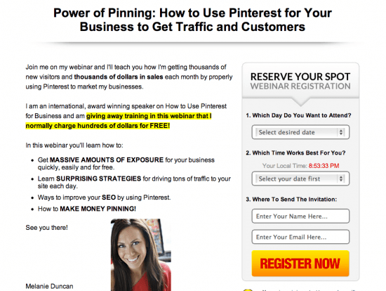 Power of Pinning