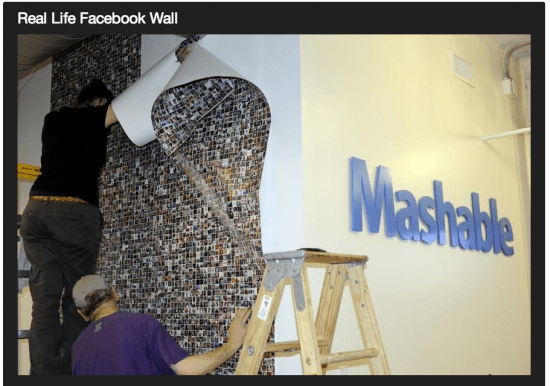 Mashable's Facebook Wall