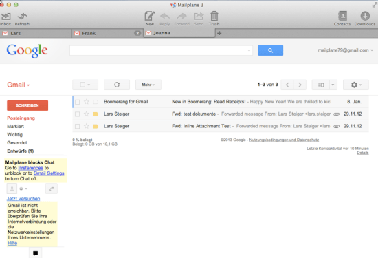 Gmail for your desktop with Mailplane