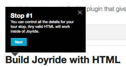 Foundation 4 Joyride example