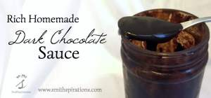 Rich Homemade Dark Chocolate Sauce