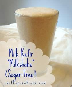 "Sugar-Free Milk Kefir ""Milkshake"""