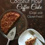 Honey-Sweetened Coconut Flour Coffee Cake {Grain & Gluten-Free}