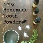 Easy Homemade Tooth Powder