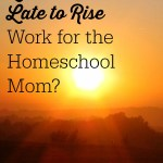 Can Late to Bed & Late to Rise Work for a Homeschool Mom?
