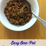 Easy One-Pot Rice, Lentils, & Veggies