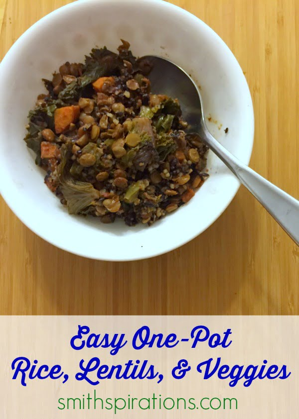 Easy One-Pot Rice, Lentils, & Veggies