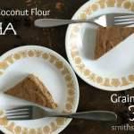 Fudgy Coconut Flour Mocha Chip Cake {Gluten & Grain Free}
