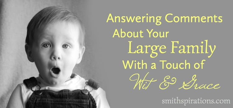 Answering Comments About Your Large Family with a Touch of Wit and Grace 2