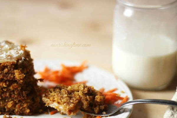 sourdough carrot cake