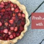 Fresh Strawberry Pie with Rhubarb Sauce