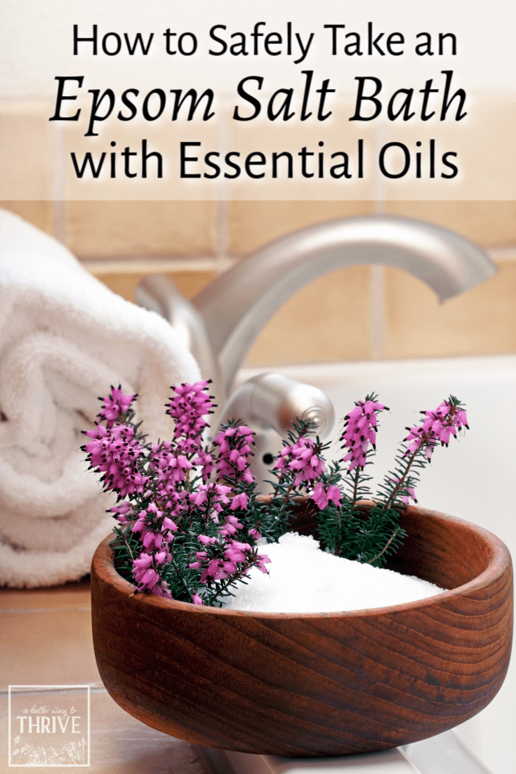 Bath time is taken to a whole new level when you indulge in an Epsom salt bath with essential oils. Here's how to make sure your essential oils stay safely diluted while you soak. via @abttrway2thrive