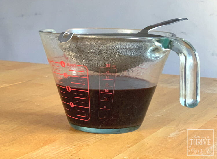 strained elderberry decoction