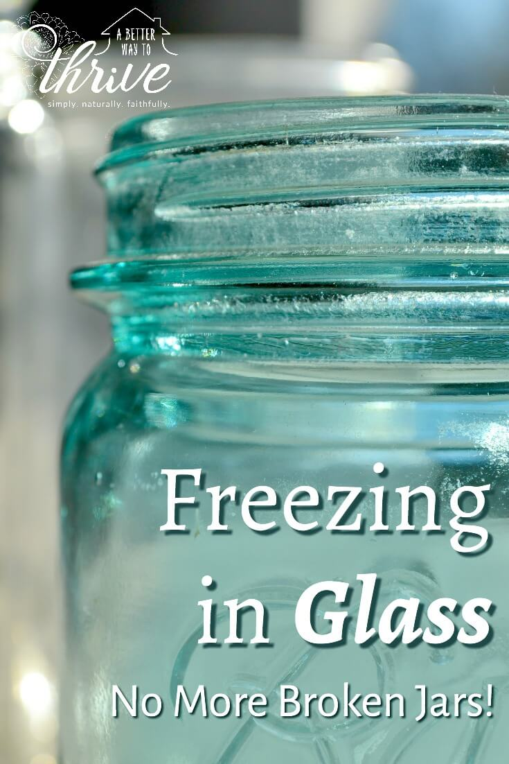 Freezing in glass is a great way to store homemade broth, leftover soup, and fresh juices. But if you're not really careful, you can end up with shattered jars. Follow these 5 simple tips to successfully freeze in glass and keep your jars whole. via @abttrway2thrive