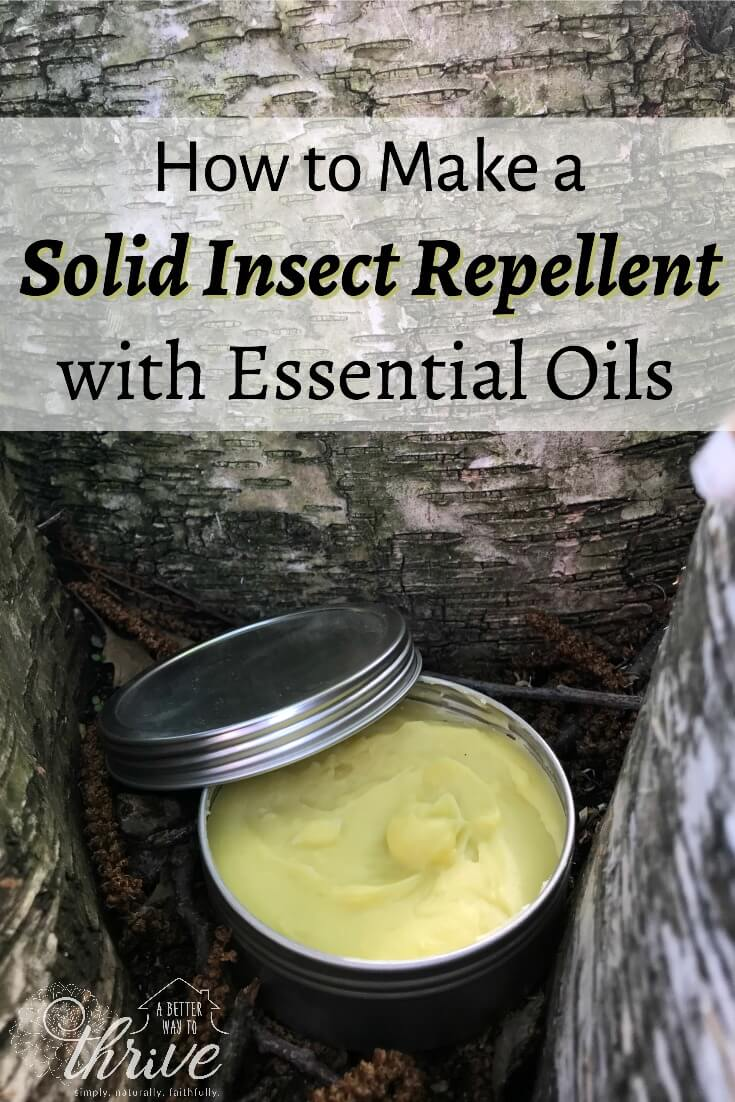 This solid insect repellent is safe, effective, and perfect for families on the go. It features six essential oils, carefully chosen by an herbalist and aromatherapist, so it keeps the bugs away without the worry! via @abttrway2thrive