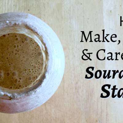 Think sourdough starters are hard to make? Think again! Learn how easy it is when you follow these steps to make, store, and care for your own sourdough starter