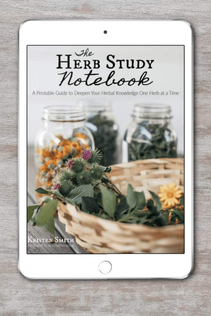 You need a better way to study herbs. How about having a way to combine your herbal research with hands-on herbal projects, experience herbs first-hand with all of your senses, make connections between the many herbs you study, and keep all of your in-depth knowledge recorded in one organized place? Meet The Herb Study Notebook: A Printable Guide to Deepen Your Herbal Knowledge One Herb at a Time, by Kristen Smith, herbalist & aromatherapist. via @abttrway2thrive