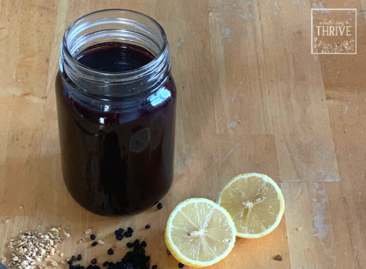 jar of elderberry syrup