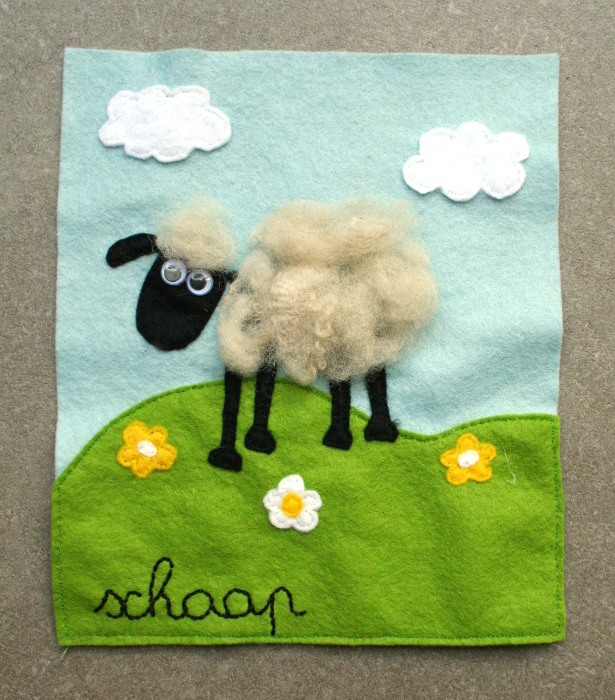 Quiet book - sheep