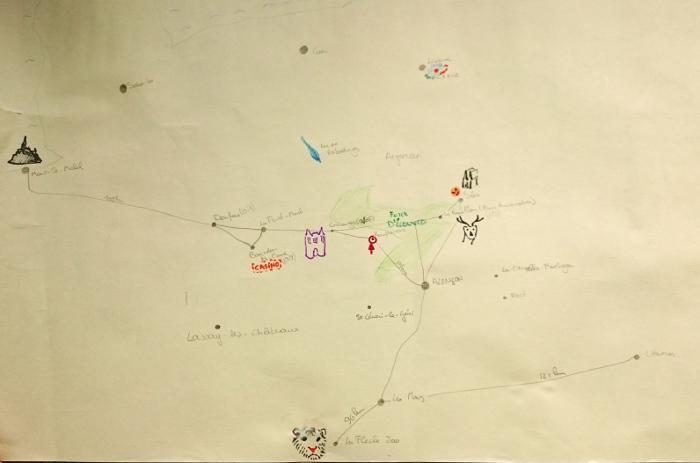 Kaart Normandie