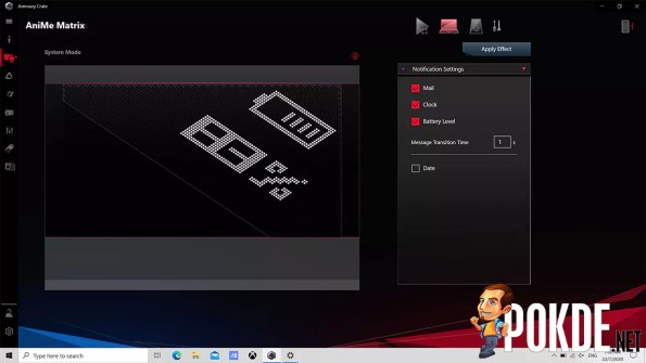 ROG Zephyrus G14 AniMe Matrix System Mode
