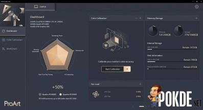 ASUS ProArt StudioBook One Review ProArt Creator Hub DashBoard