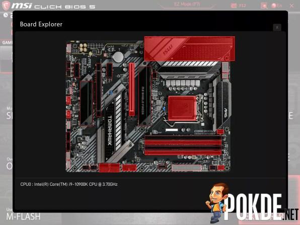 MSI MAG Z490 Tomahawk Click BIOS Board Explorer 2