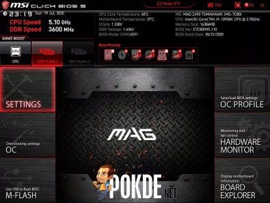MSI MAG Z490 Tomahawk Click BIOS Expert Mode
