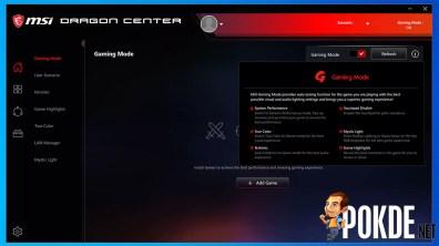 MSI MEG Z490I Unify Dragon Center Gaming Mode