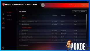 MSI MEG Z490I Unify Dragon Center Live Update