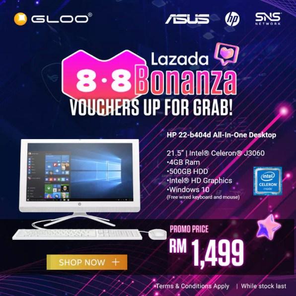 HP 22-b404d GLOO promo Lazada Bonanza
