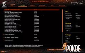 GIGABYTE Z590 AORUS Pro AX Review BIOS CPU Settings