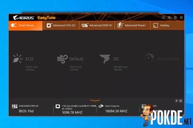 GIGABYTE Z590 AORUS Pro AX Review Easy Tune