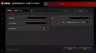 MSI-Dragon-Center-DPI-settings