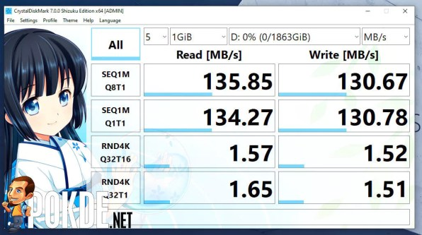 ASUS ExpertBook B1 review CrystalDiskMark HDD